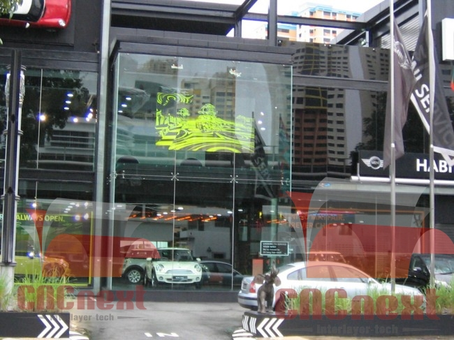 【projection Glass Film】 You Can Project Ads Videos Onto