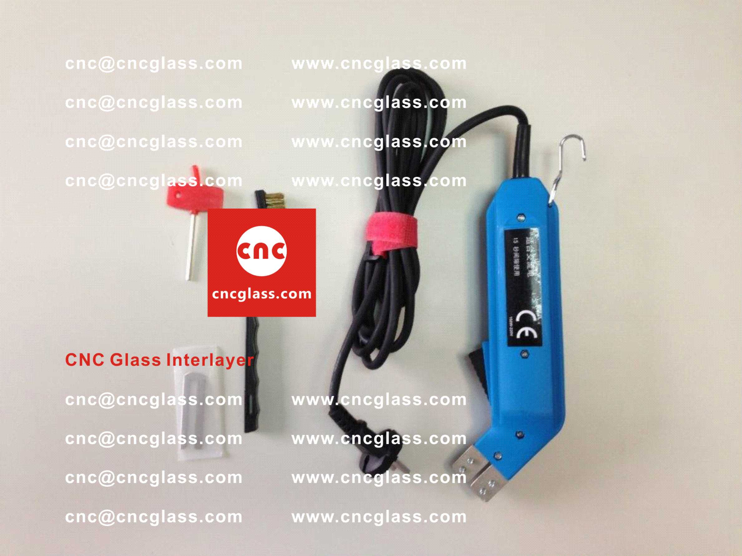 007 Thermal Cutter cleaning overflowed remains of EVA film, PVB film laminated glass