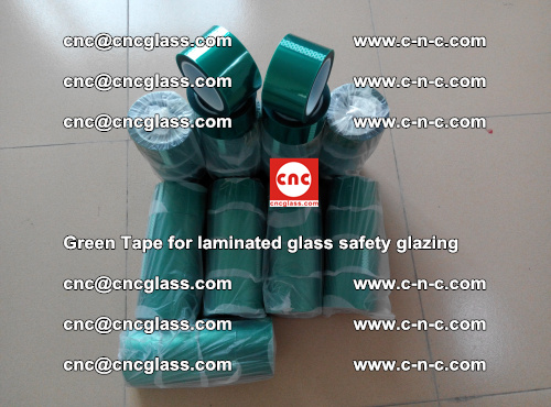 Green Tape for laminated glass safety glazing, EVA FILM, PVB FILM, SGP INTERLAYER (70)