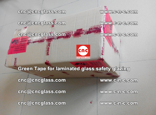 Green Tape for laminated glass safety glazing, EVA FILM, PVB FILM, SGP INTERLAYER (88)
