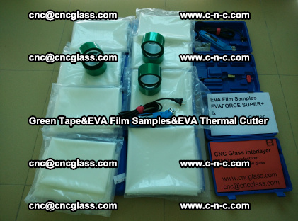 PET GREEN TAPE, EVAFORCE FILM SAMPLES, EVA THERMAL CUTTER (10)