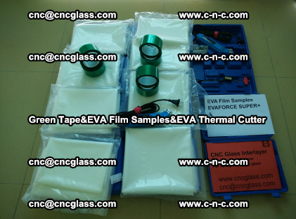 PET GREEN TAPE, EVAFORCE FILM SAMPLES, EVA THERMAL CUTTER (13)