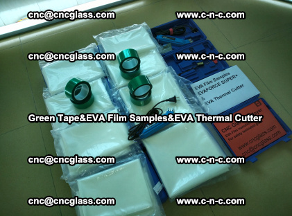 PET GREEN TAPE, EVAFORCE FILM SAMPLES, EVA THERMAL CUTTER (2)