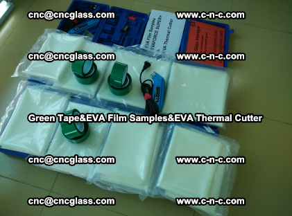 PET GREEN TAPE, EVAFORCE FILM SAMPLES, EVA THERMAL CUTTER (20)