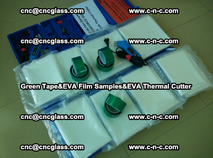 PET GREEN TAPE, EVAFORCE FILM SAMPLES, EVA THERMAL CUTTER (24)