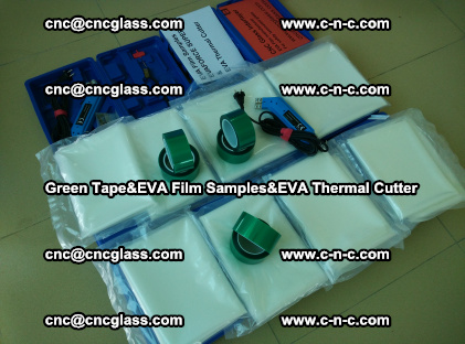 PET GREEN TAPE, EVAFORCE FILM SAMPLES, EVA THERMAL CUTTER (25)