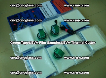PET GREEN TAPE, EVAFORCE FILM SAMPLES, EVA THERMAL CUTTER (26)