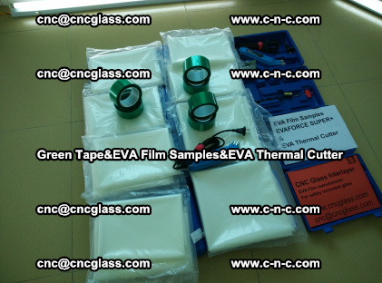 PET GREEN TAPE, EVAFORCE FILM SAMPLES, EVA THERMAL CUTTER (3)