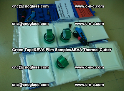 PET GREEN TAPE, EVAFORCE FILM SAMPLES, EVA THERMAL CUTTER (30)