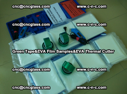 PET GREEN TAPE, EVAFORCE FILM SAMPLES, EVA THERMAL CUTTER (36)