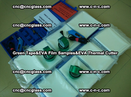 PET GREEN TAPE, EVAFORCE FILM SAMPLES, EVA THERMAL CUTTER (38)