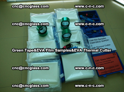 PET GREEN TAPE, EVAFORCE FILM SAMPLES, EVA THERMAL CUTTER (4)