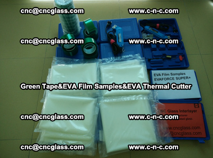 PET GREEN TAPE, EVAFORCE FILM SAMPLES, EVA THERMAL CUTTER (45)