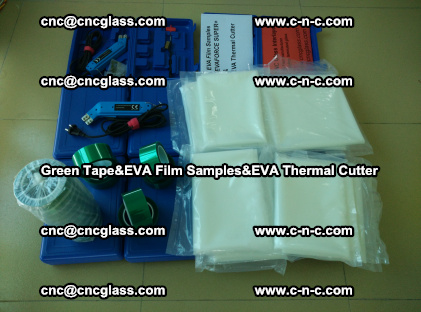 PET GREEN TAPE, EVAFORCE FILM SAMPLES, EVA THERMAL CUTTER (49)
