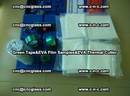 PET GREEN TAPE, EVAFORCE FILM SAMPLES, EVA THERMAL CUTTER (52)
