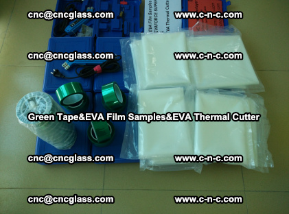 PET GREEN TAPE, EVAFORCE FILM SAMPLES, EVA THERMAL CUTTER (53)