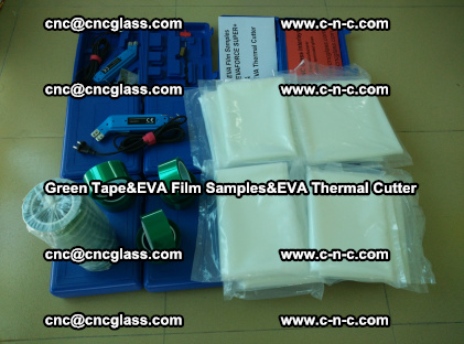 PET GREEN TAPE, EVAFORCE FILM SAMPLES, EVA THERMAL CUTTER (54)