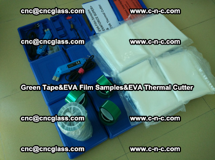 PET GREEN TAPE, EVAFORCE FILM SAMPLES, EVA THERMAL CUTTER (55)