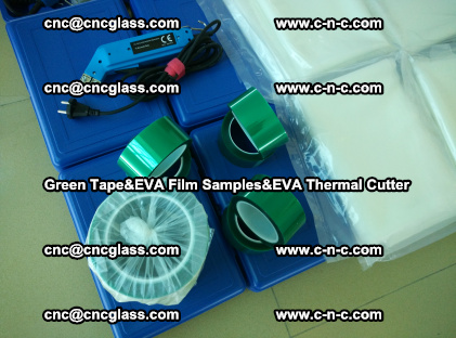 PET GREEN TAPE, EVAFORCE FILM SAMPLES, EVA THERMAL CUTTER (57)