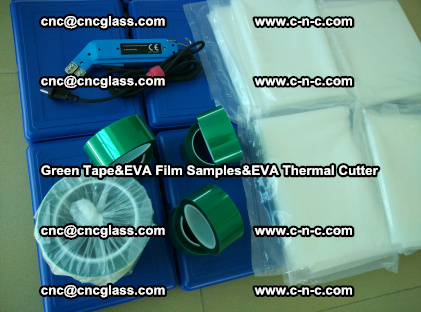 PET GREEN TAPE, EVAFORCE FILM SAMPLES, EVA THERMAL CUTTER (58)