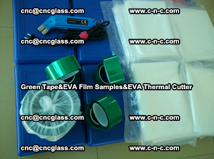 PET GREEN TAPE, EVAFORCE FILM SAMPLES, EVA THERMAL CUTTER (59)