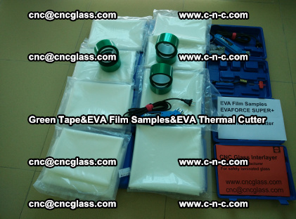 PET GREEN TAPE, EVAFORCE FILM SAMPLES, EVA THERMAL CUTTER (6)