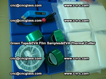 PET GREEN TAPE, EVAFORCE FILM SAMPLES, EVA THERMAL CUTTER (60)