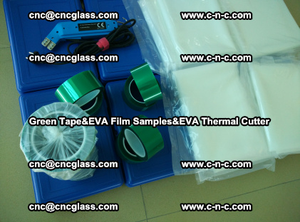 PET GREEN TAPE, EVAFORCE FILM SAMPLES, EVA THERMAL CUTTER (61)