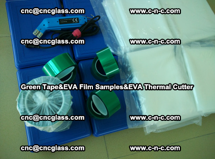 PET GREEN TAPE, EVAFORCE FILM SAMPLES, EVA THERMAL CUTTER (62)