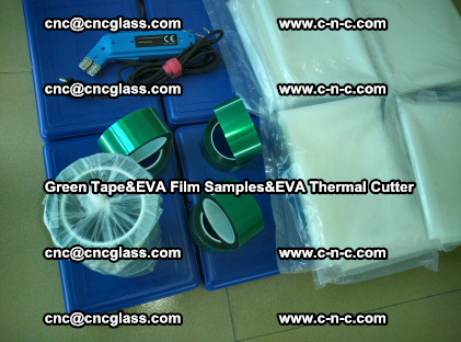 PET GREEN TAPE, EVAFORCE FILM SAMPLES, EVA THERMAL CUTTER (63)