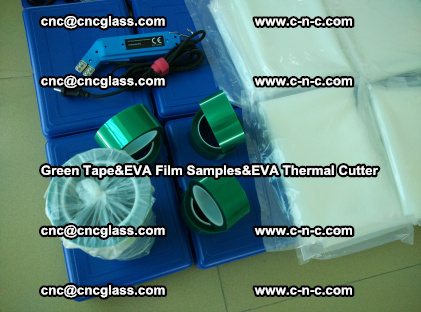 PET GREEN TAPE, EVAFORCE FILM SAMPLES, EVA THERMAL CUTTER (64)