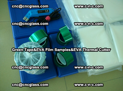 PET GREEN TAPE, EVAFORCE FILM SAMPLES, EVA THERMAL CUTTER (65)