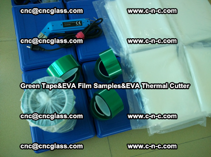 PET GREEN TAPE, EVAFORCE FILM SAMPLES, EVA THERMAL CUTTER (66)