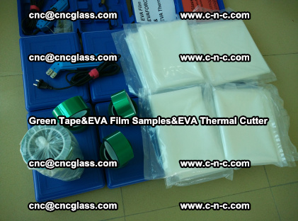 PET GREEN TAPE, EVAFORCE FILM SAMPLES, EVA THERMAL CUTTER (68)