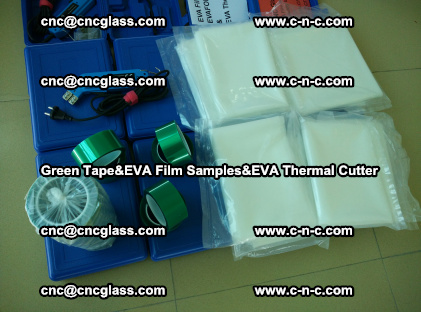PET GREEN TAPE, EVAFORCE FILM SAMPLES, EVA THERMAL CUTTER (69)