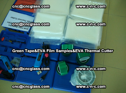 PET GREEN TAPE, EVAFORCE FILM SAMPLES, EVA THERMAL CUTTER (70)