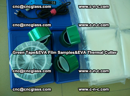 PET GREEN TAPE, EVAFORCE FILM SAMPLES, EVA THERMAL CUTTER (72)