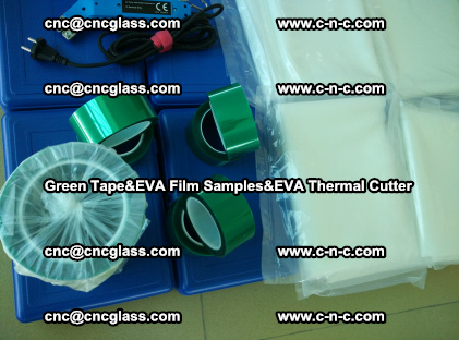 PET GREEN TAPE, EVAFORCE FILM SAMPLES, EVA THERMAL CUTTER (73)
