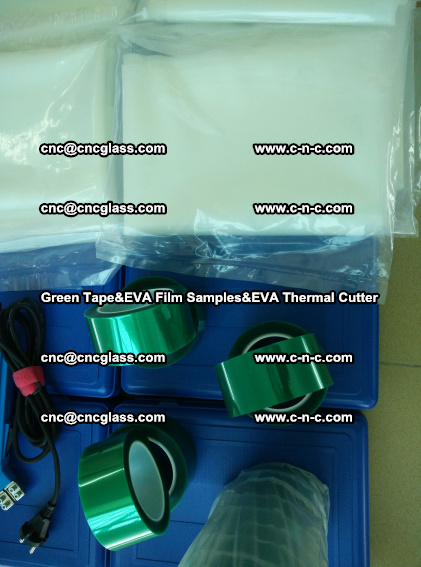 PET GREEN TAPE, EVAFORCE FILM SAMPLES, EVA THERMAL CUTTER (74)