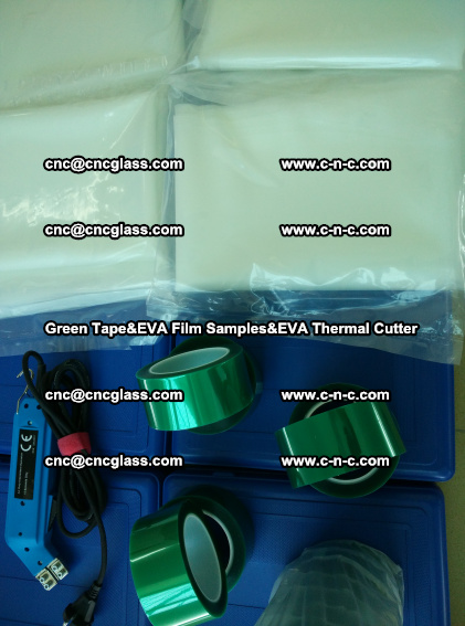 PET GREEN TAPE, EVAFORCE FILM SAMPLES, EVA THERMAL CUTTER (75)