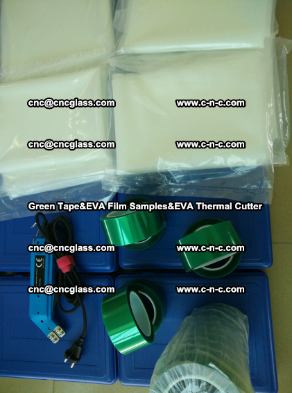 PET GREEN TAPE, EVAFORCE FILM SAMPLES, EVA THERMAL CUTTER (76)