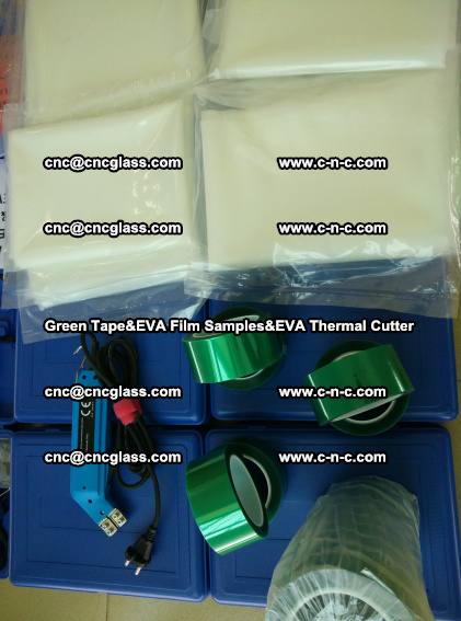 PET GREEN TAPE, EVAFORCE FILM SAMPLES, EVA THERMAL CUTTER (77)