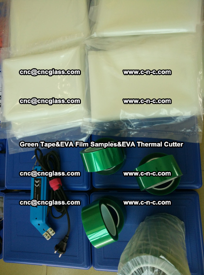 PET GREEN TAPE, EVAFORCE FILM SAMPLES, EVA THERMAL CUTTER (78)
