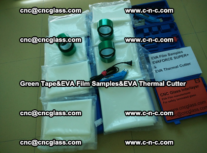 PET GREEN TAPE, EVAFORCE FILM SAMPLES, EVA THERMAL CUTTER (8)
