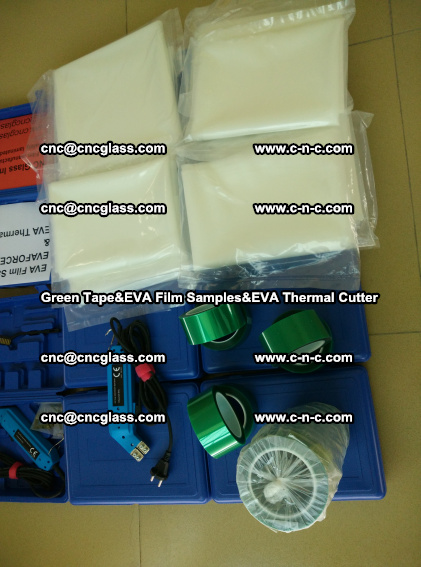 PET GREEN TAPE, EVAFORCE FILM SAMPLES, EVA THERMAL CUTTER (80)