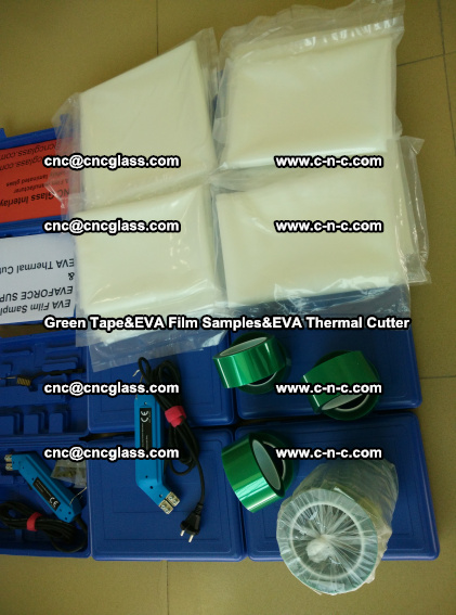 PET GREEN TAPE, EVAFORCE FILM SAMPLES, EVA THERMAL CUTTER (81)