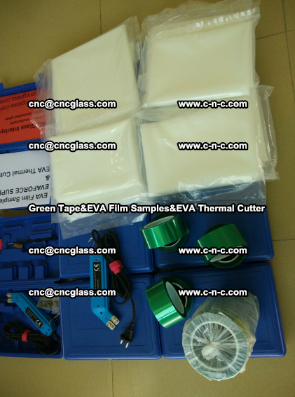 PET GREEN TAPE, EVAFORCE FILM SAMPLES, EVA THERMAL CUTTER (82)