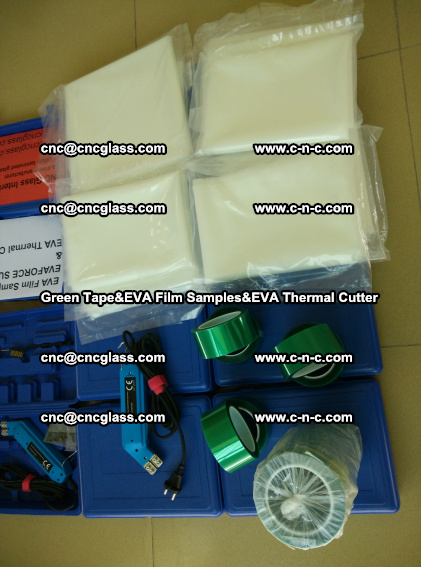 PET GREEN TAPE, EVAFORCE FILM SAMPLES, EVA THERMAL CUTTER (83)