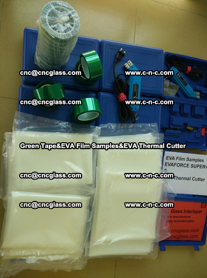 PET GREEN TAPE, EVAFORCE FILM SAMPLES, EVA THERMAL CUTTER (84)