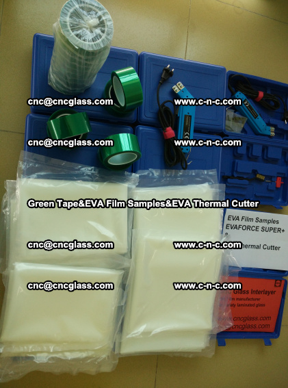 PET GREEN TAPE, EVAFORCE FILM SAMPLES, EVA THERMAL CUTTER (85)